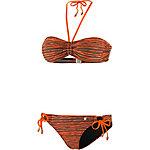 Maui Wowie Ethno Vibes Bandeau Bikini Damen dunkelbraun/orange