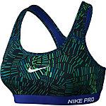Nike Pro Classic Padded Sport-BH Damen dunkelblau/hellgrün
