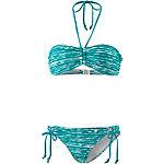 Maui Wowie The Big Blue Bandeau Bikini Damen jadegrün/weiß