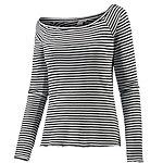 Maui Wowie Langarmshirt Damen schwarz/weiß
