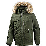TOM TAILOR Outdoorjacke Herren oliv