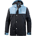 Colour Wear Rock Kapuzenjacke Herren schwarz/blau