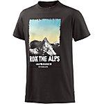 Alprausch Alpnacht Printshirt Herren anthrazit
