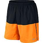 Nike Distance Laufshorts Herren schwarz/orange