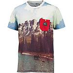 Picture Down the river Printshirt Herren weiß/braun