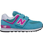NEW BALANCE Sneaker Kinder türkis/rosa