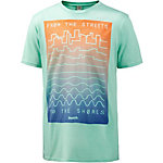 Bench Distance Printshirt Herren mint