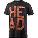 HEAD T-Shirt Herren schwarz/rot