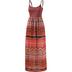 WLD Outta my Dreams Maxikleid Damen bordeaux/allover