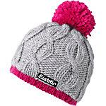 Eisbär Kiana Pompon Bommelmütze grau/pink