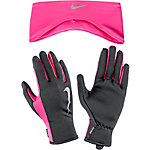 Nike Set aus Mütze, Schal und Handschuhe Damen pink/schwarz