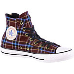 CONVERSE Dual Zip Plaid Sneaker Damen bordeaux/blau
