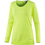 Nike Seamless Drifit-Knit Epic Crew Funktionsshirt Damen neongelb