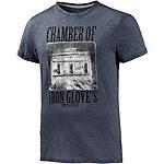TOM TAILOR Printshirt Herren blaugrau