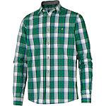 TOM TAILOR Langarmhemd Herren grün/weiß