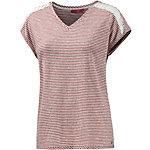 S.OLIVER V-Shirt Damen rostrot/weiß