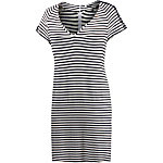 REPLAY Kurzarmkleid Damen schwarz/weiß