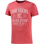 TOM TAILOR Printshirt Herren rot