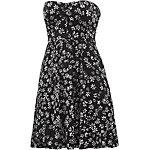 Volcom Keepin On Dress Bandeaukleid Damen schwarz/weiß