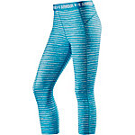 Under Armour Heatgear Tights Damen petrol/weiß
