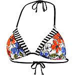 Short Stories Beach Love Story Bikini Oberteil Damen fuchsia/schwarz/weiß