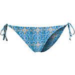 Volcom Wallflower Bikini Hose Damen hellblau/weiß/gelb