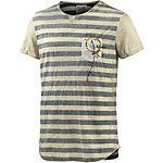 Khujo T-Shirt Herren ecru/blau