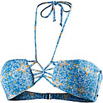 Volcom Wallflower Bikini Oberteil Damen hellblau/weiß/gelb