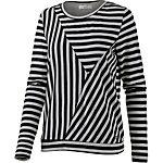 nümph Sweatshirt Damen schwarz/weiß