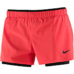 Nike Full Flex 2 in1 2.0 Funktionsshorts Damen rot/schwarz