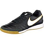 Nike TIEMPO GENIO II LEATHER IC Fußballschuhe Herren schwarz/weiß