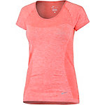 Nike Dri-Fit Knit Funktionsshirt Damen koralle