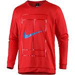 Nike Court LS Crew Funktionssweatshirt Herren rot