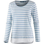 TOM TAILOR 2-in-1 Langarmshirt Damen hellblau