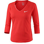 Nike Pure Top 3/4 Funktionsshirt Damen rot