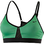 Nike Pro Indy Colourblock Sport-BH Damen hellgrün/schwarz