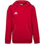adidas Core 15 Hoodie Kinder rot / weiß