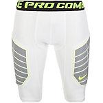 Nike Pro Hyperstrong Compression Elite Kompressionshose Herren weiß / lime