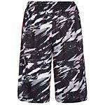 Nike Elite Stripe Splatter Basketball-Shorts Herren schwarz / rot / weiß