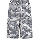 Nike Elite Stripe Camo Basketball-Shorts Herren grau / silber