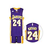 adidas Los Angeles Bryant Basketball Trikot Kinder lila / gelb