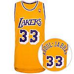 adidas LA Lakers Abdul-Jabbar Swingman Basketball Trikot Herren gelb / lila / weiß
