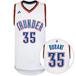 adidas Oklahoma City Thunder Durant Swingman Basketball Trikot Herren weiß / blau