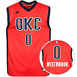 adidas Oklahoma City Thunder Westbrook Basketball Trikot Herren orange / dunkelblau