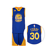 adidas Golden State Warriors Curry Basketball Trikot Kinder blau / weiß / gelb
