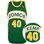 adidas Seattle Supersonics Kemp Swingman Basketball Trikot Herren grün / gelb / weiß