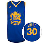 adidas Golden State Warriors Curry Basketball Trikot Herren blau / weiß / gelb