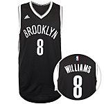 adidas Brooklyn Nets Williams Swingman Basketball Trikot Herren schwarz / weiß