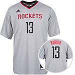 adidas Houston Rockets Harden Basketball Shirt Herren grau / weiß / schwarz