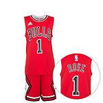 adidas Chicago Bulls Basketball Trikot Kinder rot / weiß